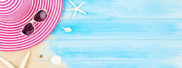 Colorful summer holiday beach banner background