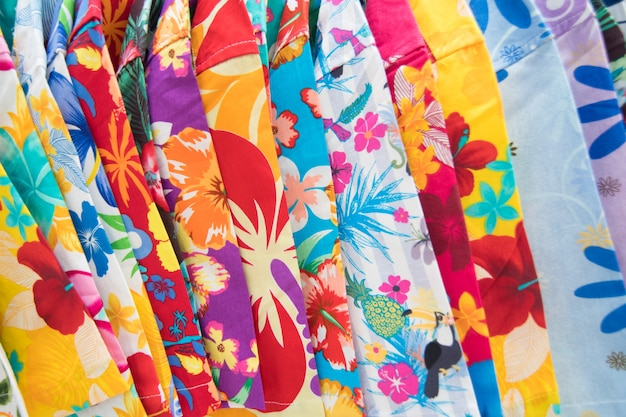 Colorful summer shirt and pants background