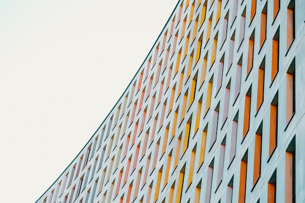 A colorful and symmetrical building with copy space and professional and minimalistic look