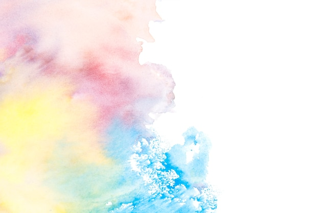 Colorful texture on white background
