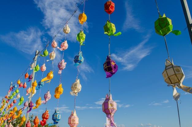 Colorful thai lantern