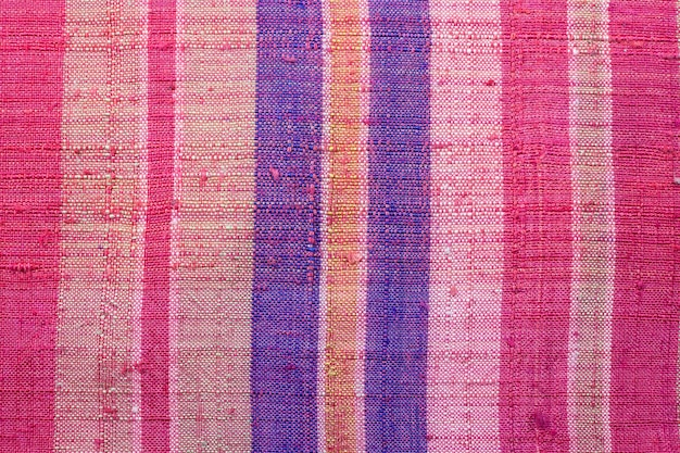 다채로운 태국 들보 패브릭 배경