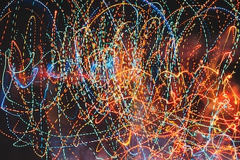 Colorful trails of neon lights