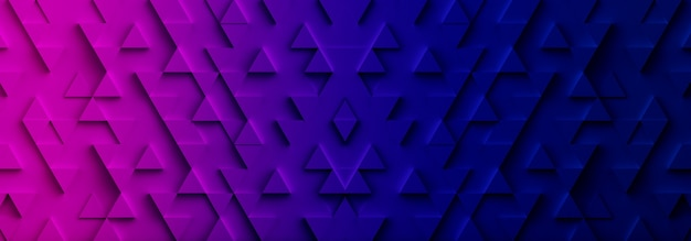 Colorful triangle pattern backdrop background. 3d rendering.