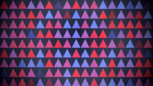 カラフルな三角形のパターン、抽象的な背景。エレガントで豪華な幾何学的なスタイルの3dイラスト