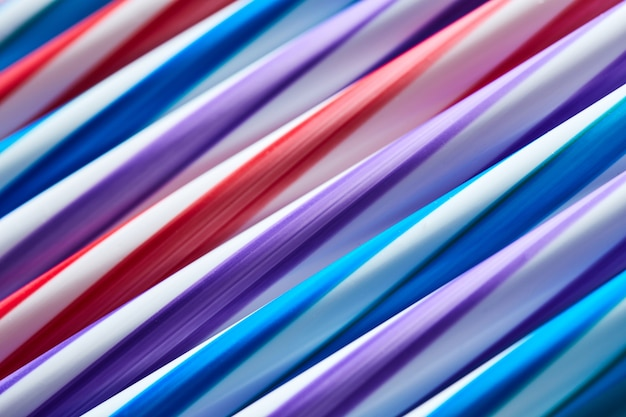 다채로운 튜브 추상적 인 배경과 질감 배경, 평면 누워