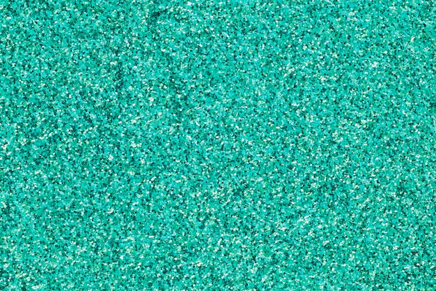 Colorful turquoise sparkles in pile