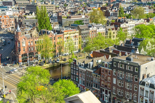 Colorful view of amsterdam