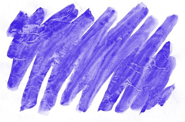 Colorful violet watercolor wet brush paint liquid