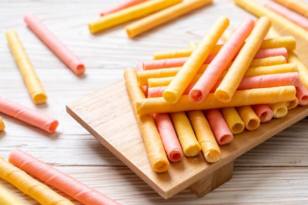 Colorful wafer stick roll
