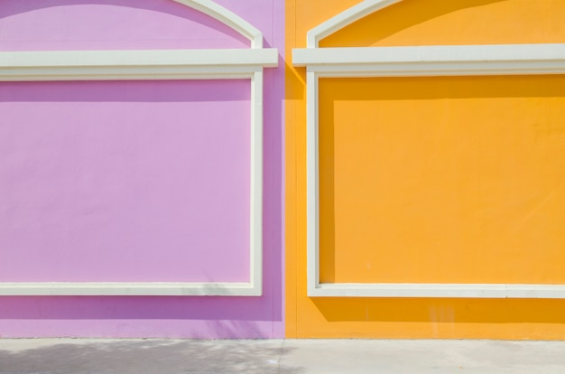 Colorful wall in italy style