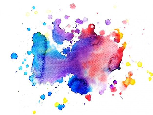 Colorful watercolor background. art hand paint