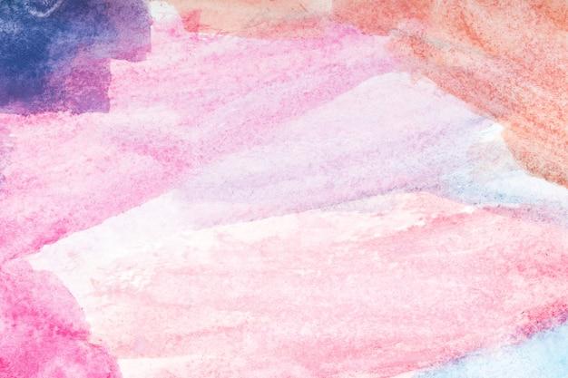カラフルな水彩画の背景。ブラシで手描き