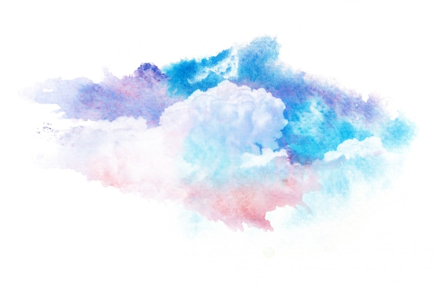 Colorful watercolor clouds