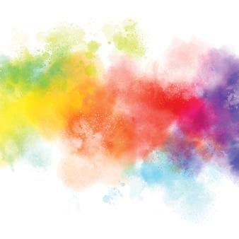 흰색 배경 그림에 다채로운 수채화