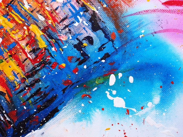 Colorful watercolor painting abstract background and texture.