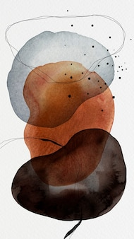 Красочная акварель пятно круги дизайн телефон фон