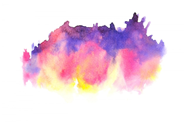 Colorful watercolor stain paint stroke background