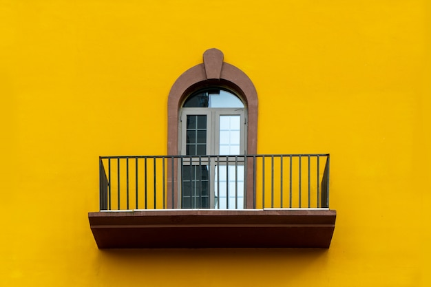 Colorful windows and walls of mediterranean architecture