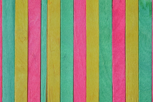 Colorful of wood ice cream stick for background design