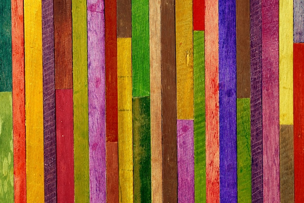 Colorful wooden wall background