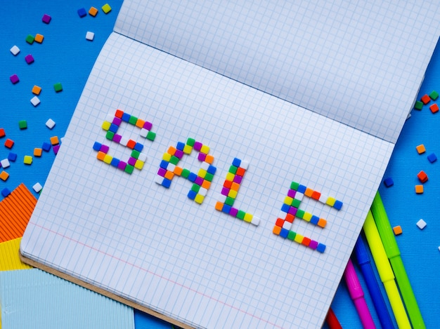 Colorful word sale .