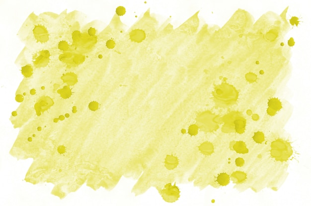 Colorful yellow watercolor wet brush paint liquid background for wallpaper and business card. aquarelle bright color abstract hand drawn paper texture backdrop vivid element for web and print