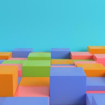 Colorfull коробки на ярко-синем фоне
