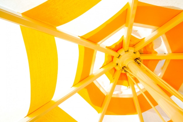 Colorfull yellow umbrella background
