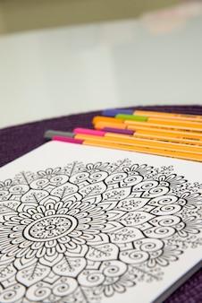 Coloring book with mandala