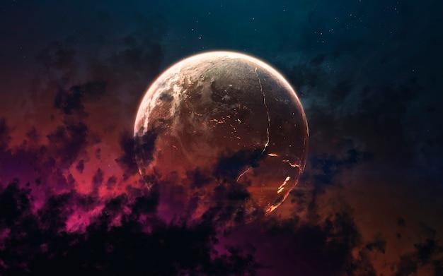 깊은 우주, 아름다운 은하, 행성 및 별의 색상. nasa에서 제공 한이 이미지의 요소