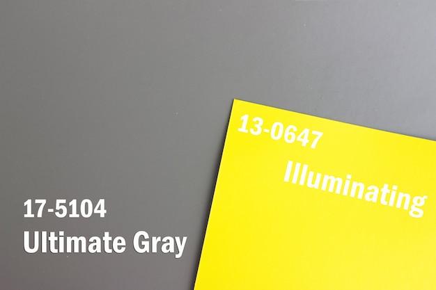 2021년 올해의 색상. 색상 트렌드. 조명. 얼티밋 그레이. 아이디어, 혁신, 창의성
