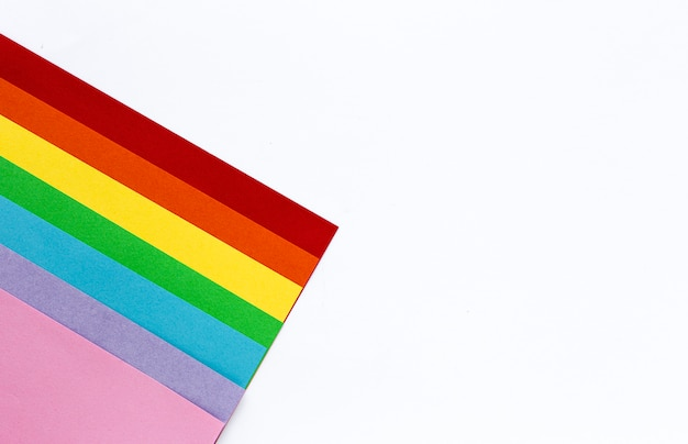 Colors of the rainbow, symbol of lgbt
