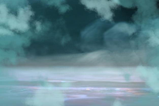 Цвета. synth wave и ретро wave, футуристическая эстетика паровой волны. светящийся неоновый стиль. горизонтальные обои, фон. стильный флаер для рекламы, предложения, ярких цветов и дымчатого неонового эффекта. copyspace.