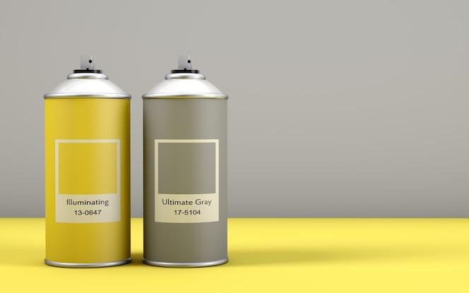 2021年的颜色称为照明黄色和终极灰色