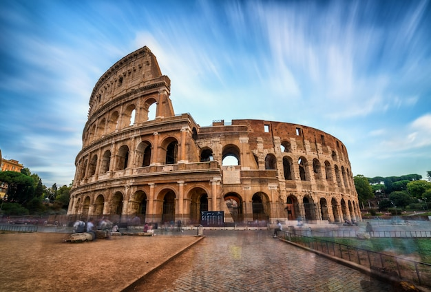 Colosseum in rome, italy - long exposure shot