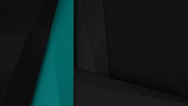 Accento di colore sfondo di presentazione aziendale