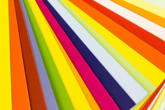 Colour guide in stripes, multicolor background. color card palette.