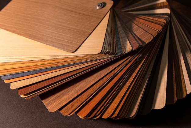 Colour wooden premium sampler for design of modern apartments