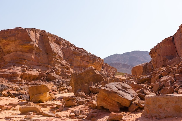 Coloured canyon is a rock formation on south sinai egypt peninsula desert rocks