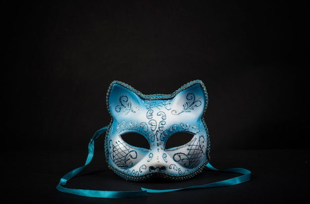 Coloured cat-shaped carnival mask for a celebration