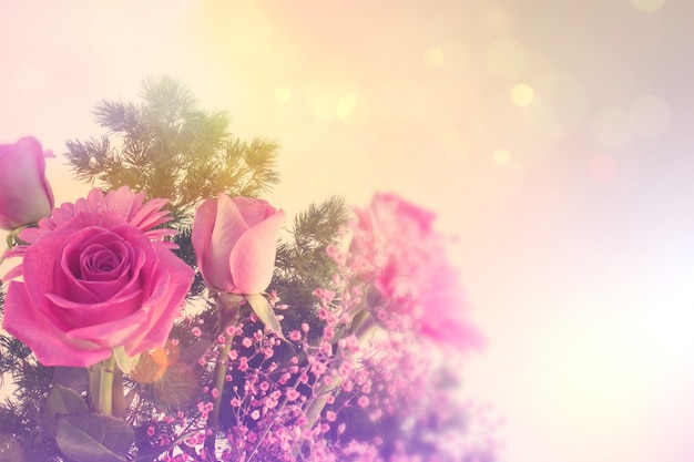 Coloured floral background