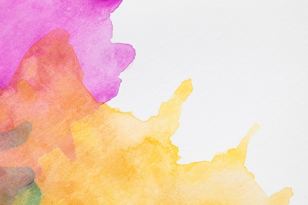 Colourful abstract splashes with copy space background