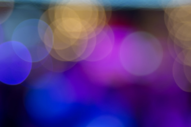 Colourful big circle bokeh for background.