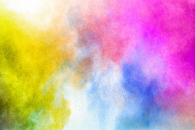 Colourful explosion for happy holi powder. color powder explosion background.