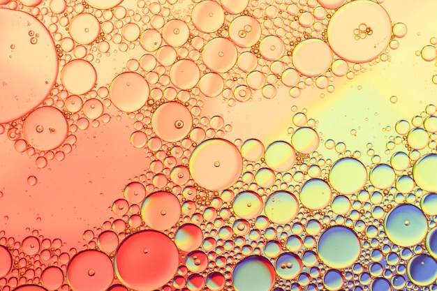 Colourful oil ink bubbles and drops