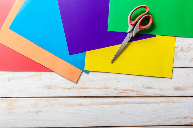 Colourful paper scissors