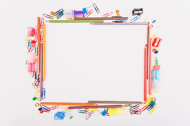 Colourful school stationery