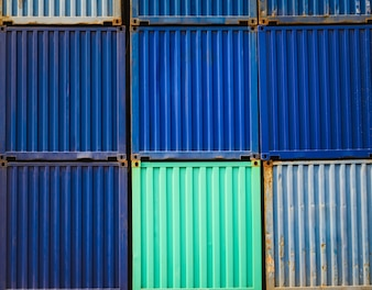 Colourful Sea containers stacking layer