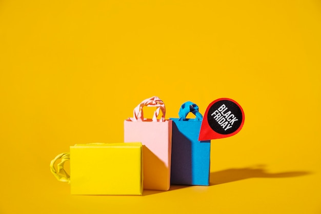 Colourful shopping packets